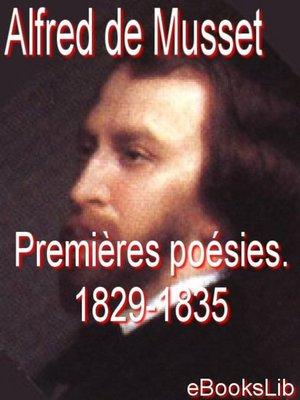 cover image of Premières poésies. 1829-1835