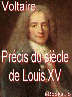 cover image of Précis du siècle de Louis XV
