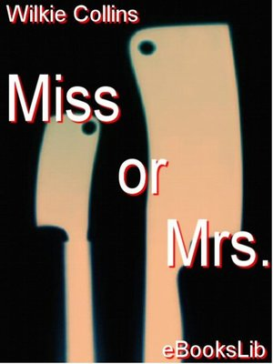 cover image of Miss or Mrs