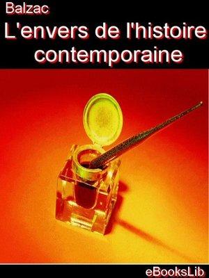 cover image of L'envers de l'histoire contemporaine ; Les précepteurs en Dieu