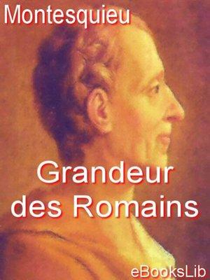 cover image of Grandeur des Romains