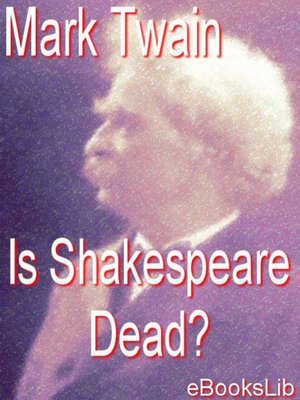 cover image of Is Shakespeare Dead