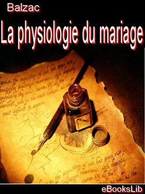cover image of La physiologie du mariage