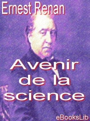 cover image of Avenir de la science