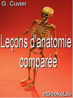 cover image of Leçons d'anatomie comparée