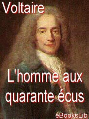 cover image of L'homme aux quarante écus