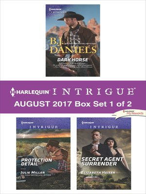 cover image of Harlequin Intrigue August 2017--Box Set 1 of 2