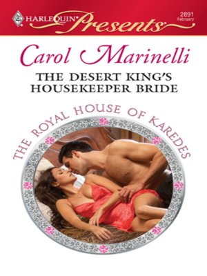 cover image of The Desert King's Housekeeper Bride