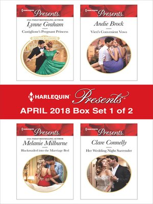 cover image of Harlequin Presents April 2018--Box Set 1 of 2