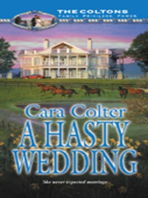 cover image of A Hasty Wedding