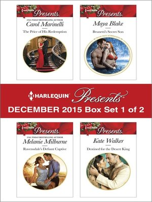 cover image of Harlequin Presents December 2015, Box Set 1 of 2
