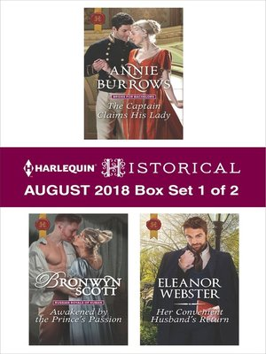 cover image of Harlequin Historical August 2018--Box Set 1 of 2