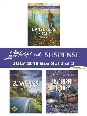 cover image of Harlequin Love Inspired Suspense July 2016, Box Set 2 of 2