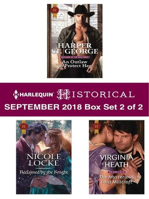 cover image of Harlequin Historical September 2018--Box Set 2 of 2