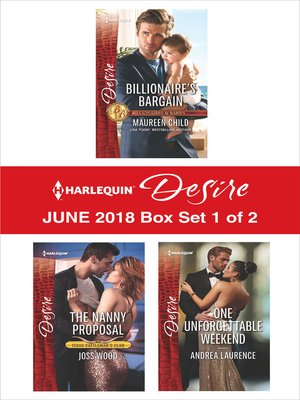 cover image of Harlequin Desire June 2018--Box Set 1 of 2