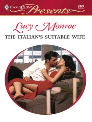 cover image of The Italian's Suitable Wife