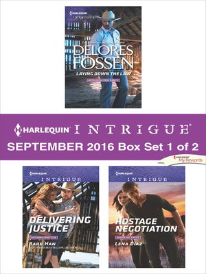 cover image of Harlequin Intrigue September 2016, Box Set 1 of 2