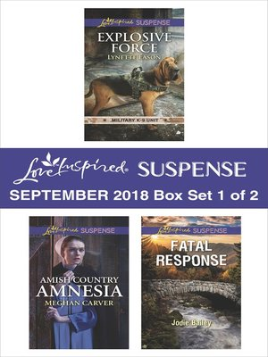 cover image of Harlequin Love Inspired Suspense September 2018--Box Set 1 of 2