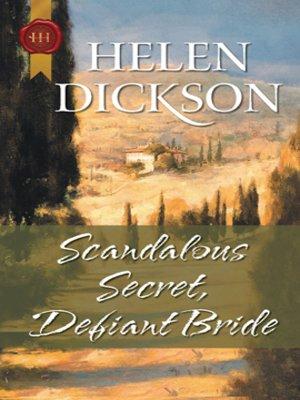 cover image of Scandalous Secret, Defiant Bride