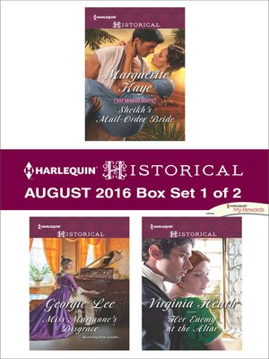 cover image of Harlequin Historical August 2016--Box Set 1 of 2