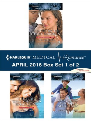 cover image of Harlequin Medical Romance April 2016, Box Set 1 of 2
