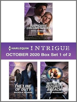 cover image of Harlequin Intrigue October 2020--Box Set 1 of 2
