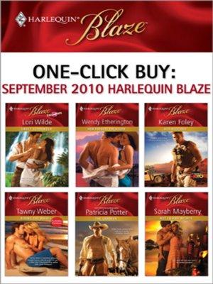 cover image of September 2010 Harlequin Blaze