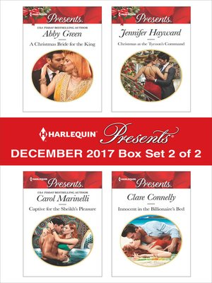 cover image of Harlequin Presents December 2017--Box Set 2 of 2