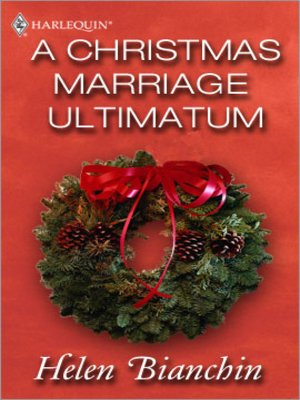 cover image of Christmas Marriage Ultimatum