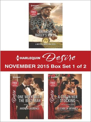 cover image of Harlequin Desire November 2015, Box Set 1 of 2