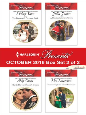 cover image of Harlequin Presents October 2016, Box Set 2 of 2