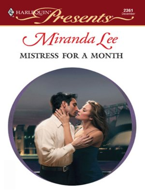 cover image of Mistress for a Month