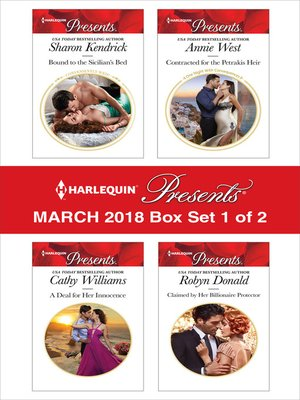 cover image of Harlequin Presents March 2018--Box Set 1 of 2