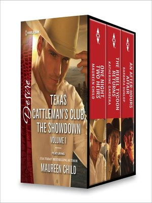 cover image of Texas Cattleman's Club, The Showdown, Volume 1