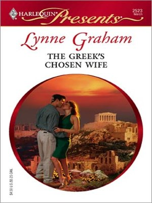 cover image of The Greek's Chosen Wife