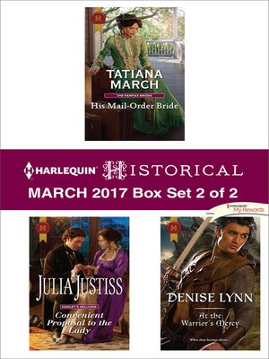 cover image of Harlequin Historical March 2017, Box Set 2 of 2