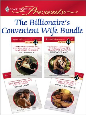 cover image of The Billionaire's Convenient Wife Bundle