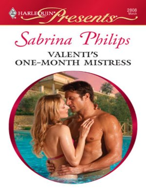 cover image of Valenti's One-Month Mistress