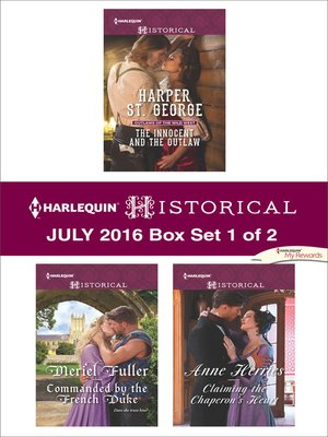 cover image of Harlequin Historical July 2016, Box Set 1 of 2