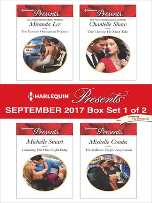 cover image of Harlequin Presents September 2017, Box Set 1 of 2