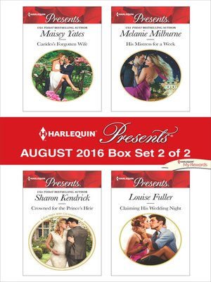 cover image of Harlequin Presents August 2016--Box Set 2 of 2