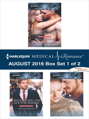 cover image of Harlequin Medical Romance August 2016--Box Set 1 of 2