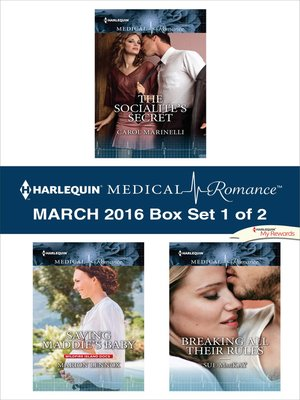 cover image of Harlequin Medical Romance March 2016--Box Set 1 of 2