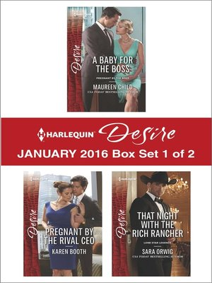 cover image of Harlequin Desire January 2016, Box Set 1 of 2