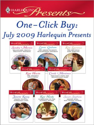 cover image of One-Click Buy: July 2009 Harlequin Presents