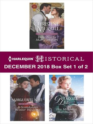 cover image of Harlequin Historical December 2018: Box Set 1 of 2