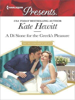 cover image of A Di Sione for the Greek's Pleasure