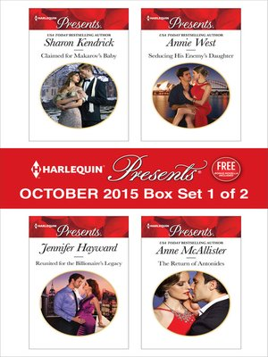 cover image of Harlequin Presents October 2015, Box Set 1 of 2