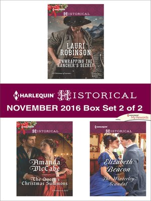 cover image of Harlequin Historical November 2016, Box Set 2 of 2