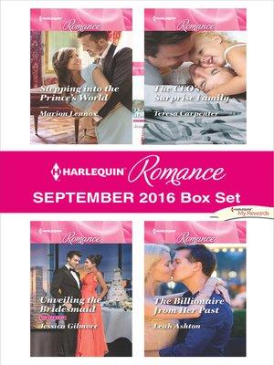 cover image of Harlequin Romance September 2016 Box Set